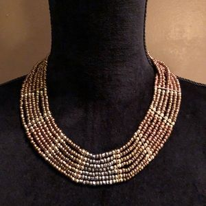 Stunning beaded thick fashion necklace